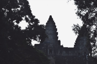 Angkor Wat desde la puerta sur.